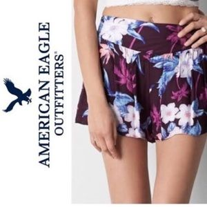 AE Knit Floral Shorts
